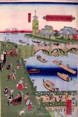 燈明台役所が描かれた浮世絵