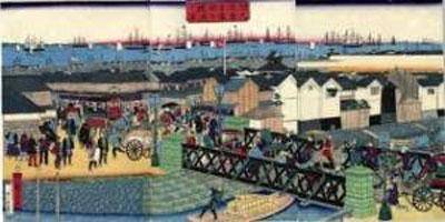 浮世絵でみるブラントンの吉田橋