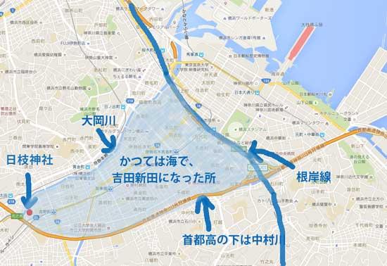 吉田新田の位置